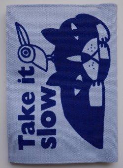 画像1: 文庫本ブックカバー・鉄男帆布製作所(Take it slow)